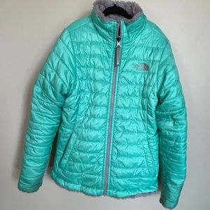 The North Face reversible teal jacket- M (10/12)